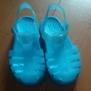 クロックス(crocs)のクロックス 水色 C9(サンダル)