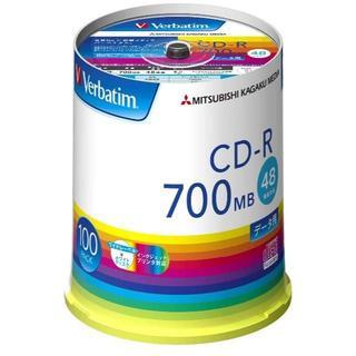 三菱ケミカルメディア Verbatim 1回記録用 CD-R SR80FP100(DVDプレーヤー)