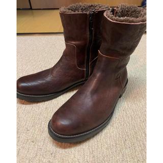 シェラック(SHELLAC)の✴︎格安良品SHELLACオイルドカウスキンジップアップブーツ(26~26.5)(ブーツ)