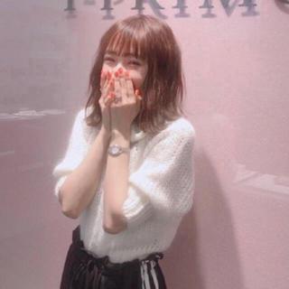 snidel - 春服💓前田希美ちゃん着用💓ライトモヘアコンパクトプルオーバー