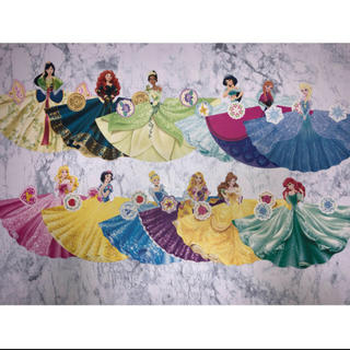 ディズニー(Disney)のディズニー プリンセス ドレスメモ おすそ分け 7枚 300円(ノート/メモ帳/ふせん)