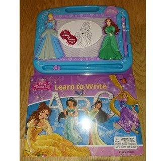 ディズニー(Disney)の【Disney】DisneyPrincess Learn to Write 絵本(知育玩具)
