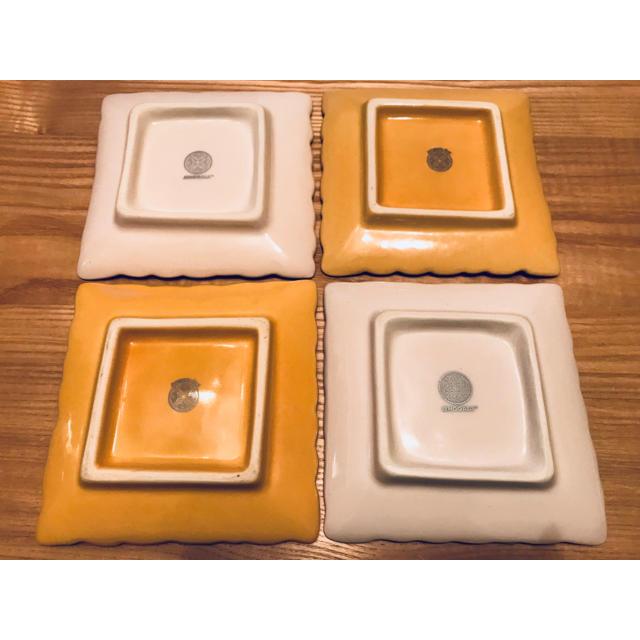 Jenggala(ジェンガラ)のJenggala ジェンガラケラミック フランジパニ プレート 4枚 インテリア/住まい/日用品のキッチン/食器(食器)の商品写真