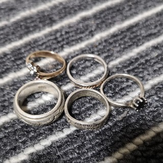 指輪 リング SILVER シルバー 925製 8号 5つセット(リング(指輪))