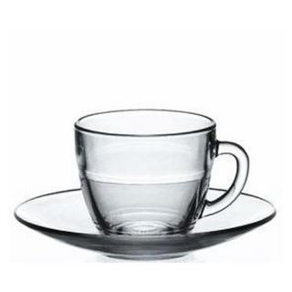 デュラレックス(DURALEX)の強化ガラス製 カップ&ソーサー6客セット(食器)
