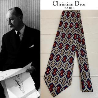 クリスチャンディオール(Christian Dior)のChristian Dior PARIS VINTAGE 柄 シルクネクタイ(ネクタイ)