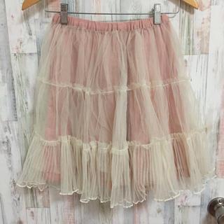 アイズビット(ISBIT)のアイズビット ピンク チュール スカート(ミニスカート)