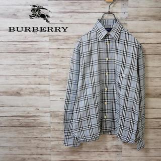 バーバリー(BURBERRY)のBurberry London ホースロゴ刺繍 ノバチェックシャツ(シャツ)