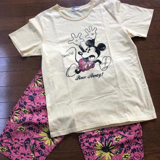 ディズニー(Disney)のmen's半袖Tシャツ♡ミッキー♡Mサイズ♡イエロー♡ディズニーランド♡シー♡(Tシャツ/カットソー(半袖/袖なし))