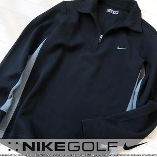 ナイキ(NIKE)の超美品 Mサイズ NIKE GOLF ナイキ メンズ 長袖ハーフジップポロシャツ(ウエア)