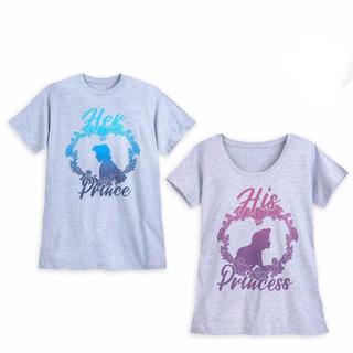 ディズニー(Disney)の海外限定☆リトルマーメイドカップルTシャツセット☆アリエル&エリック(Tシャツ(半袖/袖なし))