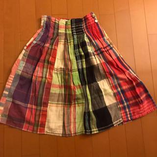 デニムダンガリー(DENIM DUNGAREE)のデニム&ダンガリー マドラスチェックスカート size120(スカート)