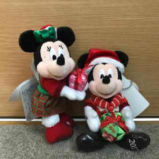 ディズニー(Disney)のミッキー&ミニー ぬいぐるみバッチ(キャラクターグッズ)