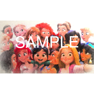 ディズニー(Disney)のディズニープリンセス ポスター 額縁付き(アート/写真)