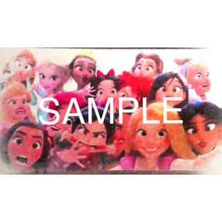 ディズニー(Disney)のディズニープリンセス 変顔 ポスター 額縁付き(アート/写真)