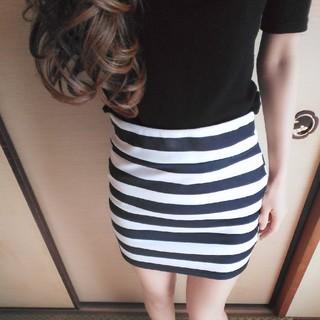 グレイル(GRL)のボーダースカート(ミニスカート)