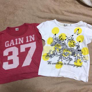 ターカーミニ(t/mini)の可愛いTシャツ2枚組★丸高衣料★80(Tシャツ)