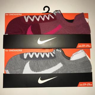 ナイキ(NIKE)のNIKE 靴下 キッズ&レディース 23cm〜25cm(ソックス)