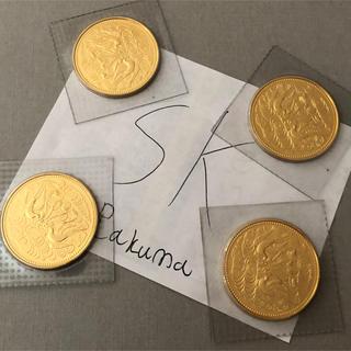送料無料 昭和天皇陛下御在位60年記念 10万円金貨 4枚 (貨幣)