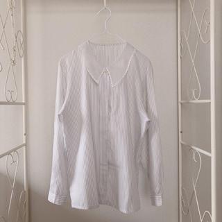 ロキエ(Lochie)の古着 ストライプシャツ(シャツ/ブラウス(長袖/七分))