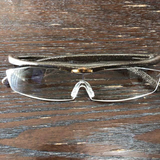 ◎新品未使用 展示見本品◎ ハズキルーペ 1.6倍 コンパクト 新色ブラウン メンズのファッション小物(サングラス/メガネ)の商品写真