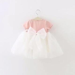 80センチ♡ バックリボン ドレス ピンク(セレモニードレス/スーツ)