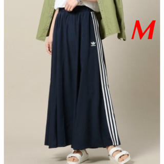 アディダス(adidas)の【レディースM】ネイビー  ロングスカート (ロングスカート)