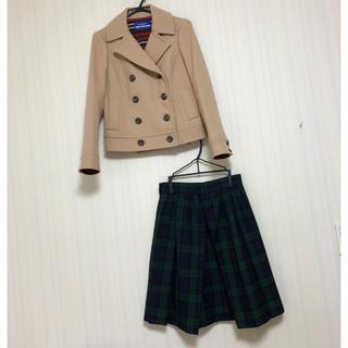 バーバリーブルーレーベル(BURBERRY BLUE LABEL)のGW限定セール本日最終❣️バーバリー ブルーレーベル  コート スカート(ピーコート)
