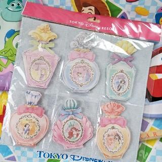 ディズニー(Disney)のディズニープリンセス/香水瓶風メモ帳セット(ノート/メモ帳/ふせん)