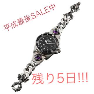 アルテミスクラシック(Artemis Classic)のプレミアム/ダークドラゴンシルバーブレスウォッチ ACクォーツ/腕時計(腕時計(アナログ))