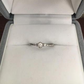 ヨンドシー(4℃)の4℃ ダイヤモンド リング Pt950 1.0mm 2.2g(リング(指輪))