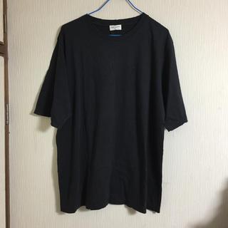 Saint Laurent - 新品 本物正規品 サンローラン メンズ Tシャツ 黒 デストロイ オーバーサイズ