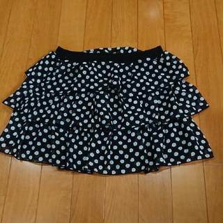 サンカンシオン(3can4on)の3CAN4ON スカート シフォン フリル 140 黒(スカート)