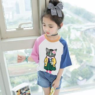 女の子 半袖 Tシャツ 140 (Tシャツ/カットソー)