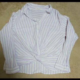 ショコラフィネローブ(chocol raffine robe)のストライプシャツ フリーサイズ(シャツ/ブラウス(長袖/七分))