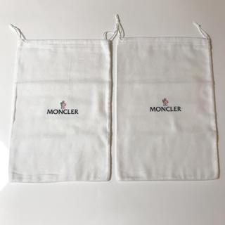 モンクレール(MONCLER)の[美品] MONCLER モンクレール コットン100% 巾着 2点セット(ショップ袋)