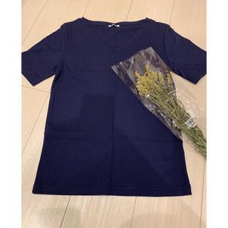 ジーユー(GU)のリブ半袖Tシャツ(Tシャツ(半袖/袖なし))