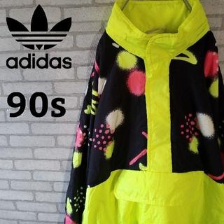 アディダス(adidas)の激レア【90s】幾何学柄 アディダス ナイロンジャケット  ハーフジップ (ナイロンジャケット)