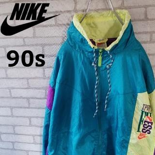ナイキ(NIKE)の【90s】NIKE ナイロンジャケット マルチクレイジーパターン   フルジョ(ナイロンジャケット)