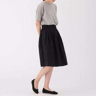 ムジルシリョウヒン(MUJI (無印良品))のオーガニックコットンダンプイージータックギャザースカート(ひざ丈スカート)