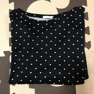 ジーユー(GU)のGU♡ドットフリルスリーブT(Tシャツ(半袖/袖なし))