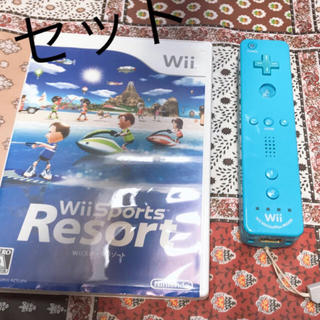 Wii - 👑Wii スポーツ リモコン,ソフトの2セット👑