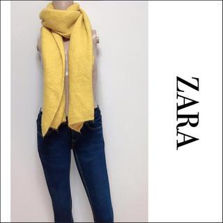 ザラ(ZARA)のZARA ふわふわ マフラー Yellow ユナイテッドアローズ H&M スライ(マフラー/ショール)