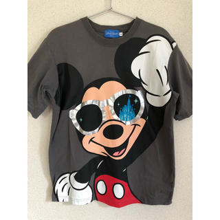 ディズニー(Disney)の東京ディズニーリゾート ミッキー Tシャツ グレー サングラス シンデレラ城(Tシャツ/カットソー(半袖/袖なし))