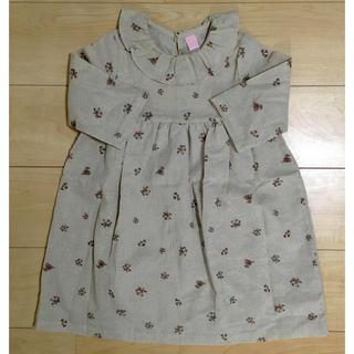 キャラメルベビー&チャイルド(Caramel baby&child )の韓国こども服 ドライフラワー ワンピース(ワンピース)