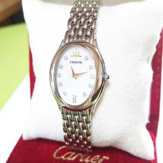 セイコー(SEIKO)の♦現行モデル セイコー クレドール 定価30万 12Pダイヤ 極上品(腕時計)
