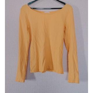 ジーユー(GU)の☆GU☆リブバレエネックTシャツ(Tシャツ(長袖/七分))