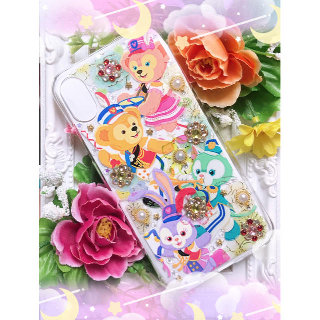 Disney(ディズニー)のiPhoneケース ハンドメイド ディズニー ダッフィーフレンズ マーチング スマホ/家電/カメラのスマホアクセサリー(iPhoneケース)の商品写真