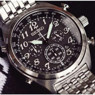 セイコー(SEIKO)の新品 海外限定 セイコーPROSPEX ソーラー電波クロノグラフ パイロット時計(腕時計(アナログ))