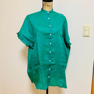 スタディオクリップ(STUDIO CLIP)のリネンシャツ  袖フリル  スタジオクリップ(シャツ/ブラウス(半袖/袖なし))